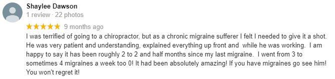 Chiropractic Carrollton GA Alpha Chiropractic and Injury Patient Testimonial